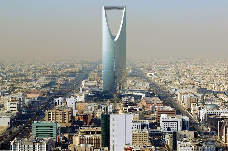 De skyline van de Saoedi-Arabische hoofdstad Riyad, onbereikbaar voor vluchtelingen uit 'broederlanden' als Syrië.