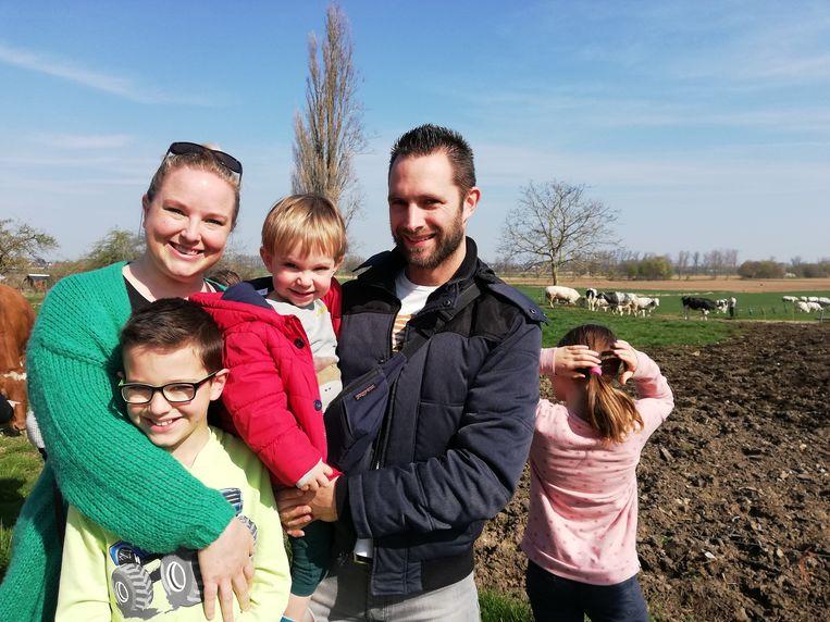 Ils en Kristiaan kwamen het schouwspel samen met hun kinderen bewonderen.
