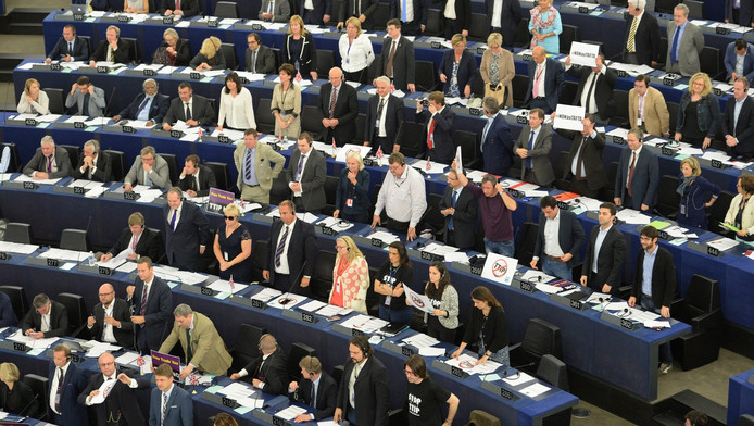 Het Europees Parlement in Straatsburg.