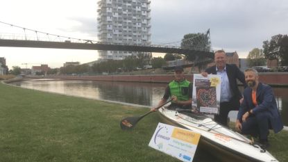 """Markenaar vaart 24 uur in kano op de Leie voor Levensloop: """"Ik neem plasbeker mee en eet vooraf niet te veel vezels"""""""