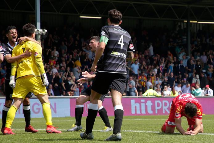 Van der Steen na de gestopte penalty.