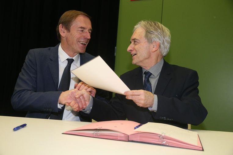 Eedaflegging burgemeester Ronse, Luc Dupont.