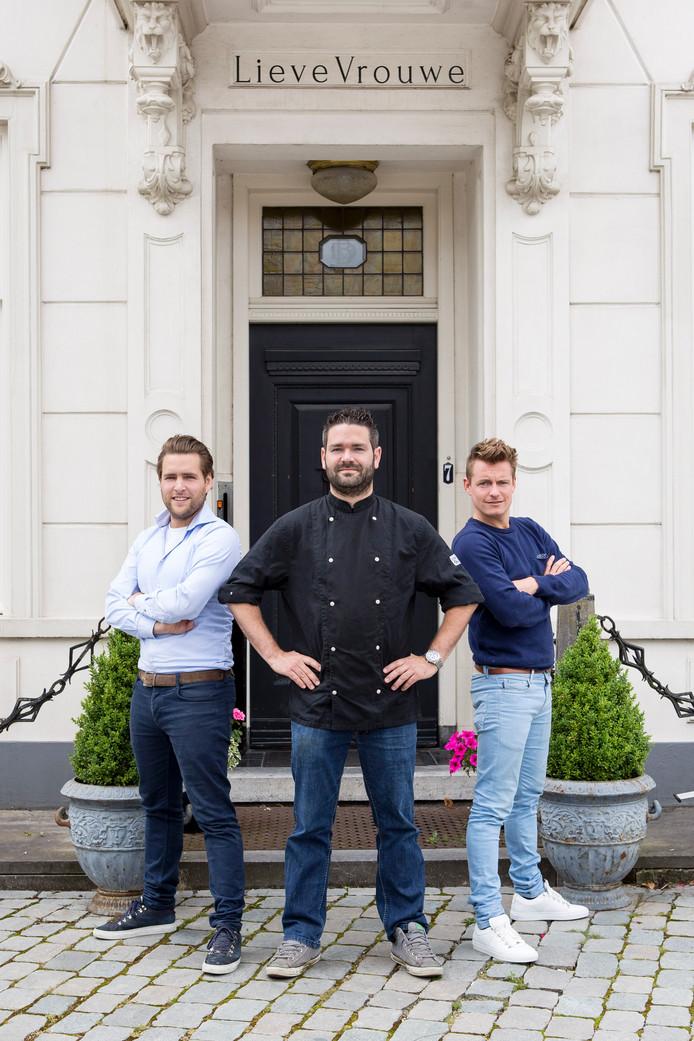 De drie heren die van 5 tot en met 14 augustus een pop-up restaurant beginnen in Villa Lieve Vrouwe in Uden.