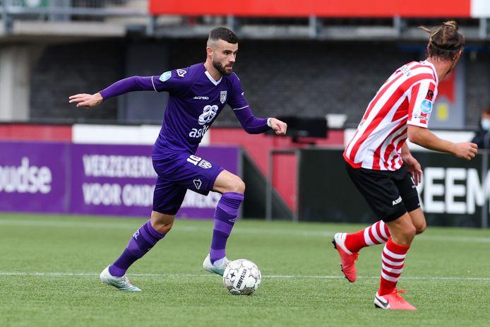 Rai Vloet scoorde voor Heracles. Het was de eerste Almelose goal sinds 27 september tegen PSV.