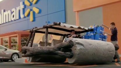 Disney wagens rijden af en aan in nieuwe Walmart spot