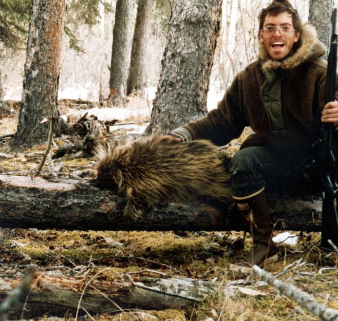 Chris McCandless, 24, op een zelfportret.