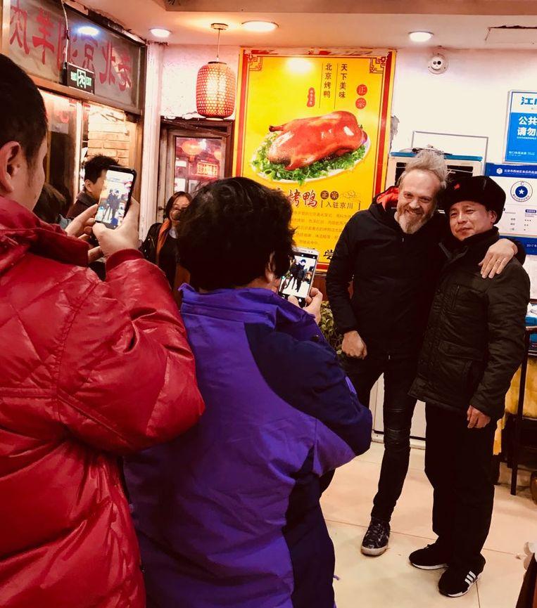 Op de foto met Chinese fans.
