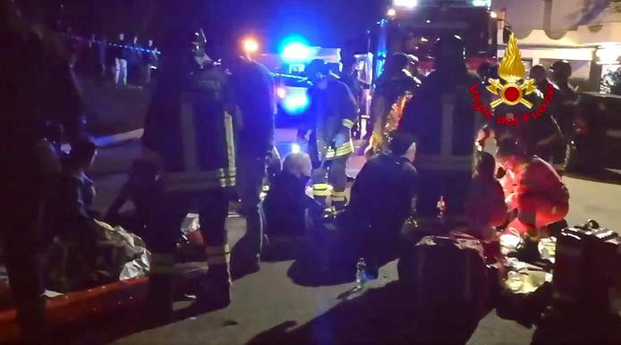 Meer dan honderd mensen raakten in het gedrang gewond.