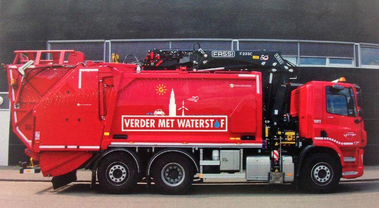 Het zijn de brandstofceltrucks die de exploitatie van de tankstations rendabel moeten maken door hun grote waterstofconsumptie. Beeld E-trucks Europa