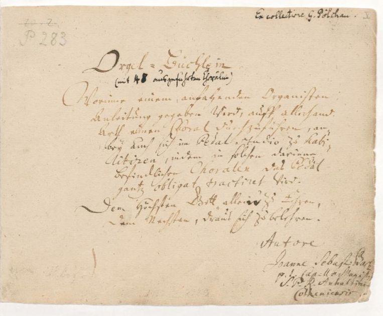 Titelpagina van Bachs Orgelbüchlein. Beeld