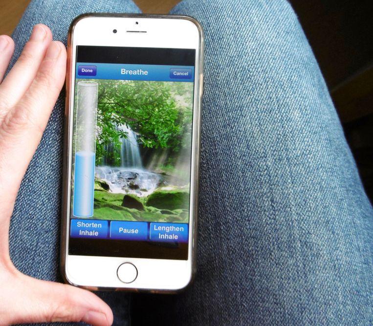 Ellen moest zich wel over het lelijke design van de app zetten.