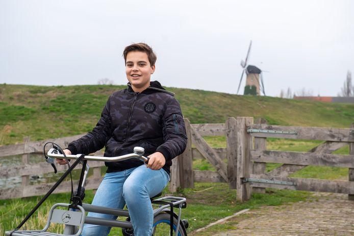 Terheijden - Pix4Profs/René Schotanus.  Lars van de Reijt bij de Schans in Terheijden.