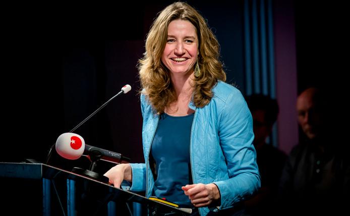 SP-kamerlid Sharon Gesthuizen tijdens de partijraad van de SP op het hoofdkantoor in Amersfoort. A