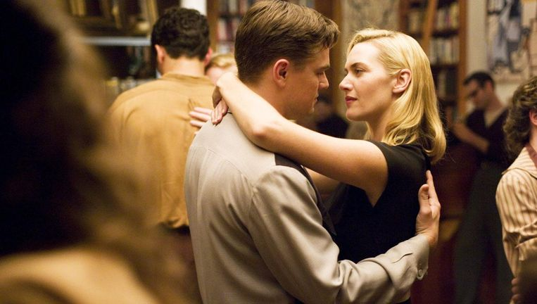 Leonardo DiCaprio en Kate Winslet in Revolutionary Road. Beeld