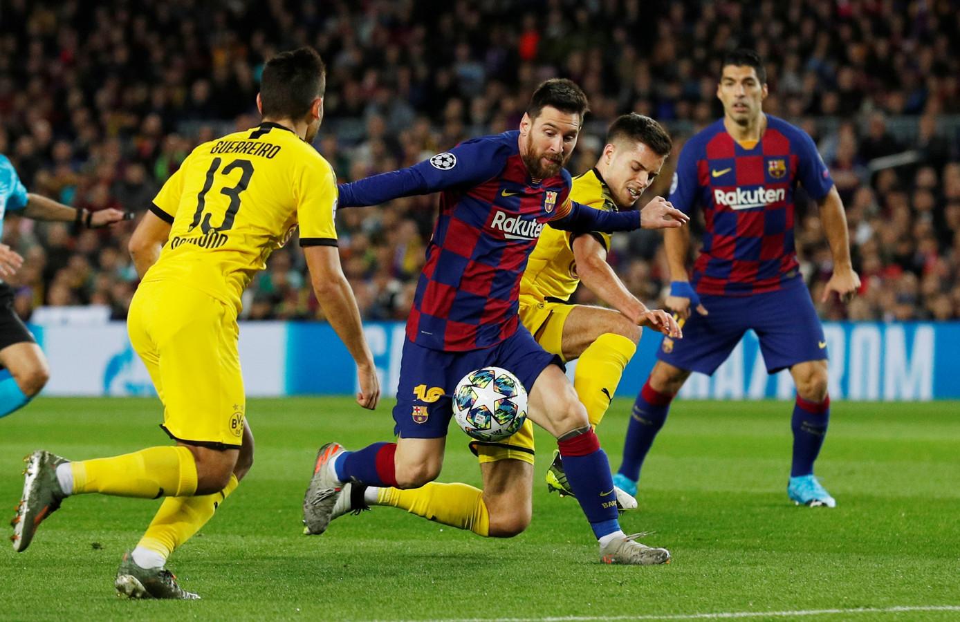 Lionel Messi draait de defensie van Borussia Dortmund dol in de groepsfase van dit Champions League-seizoen.