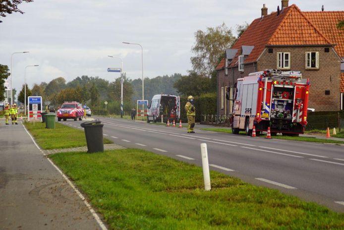 De N314 tussen Zutphen en Hummelo is afgesloten voor verkeer in verband met een gaslek bij Baak.