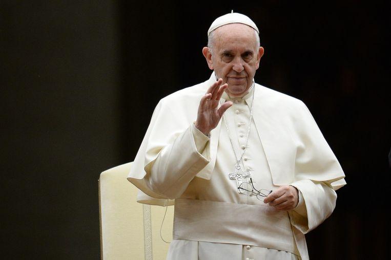 Paus Franciscus. Beeld AFP