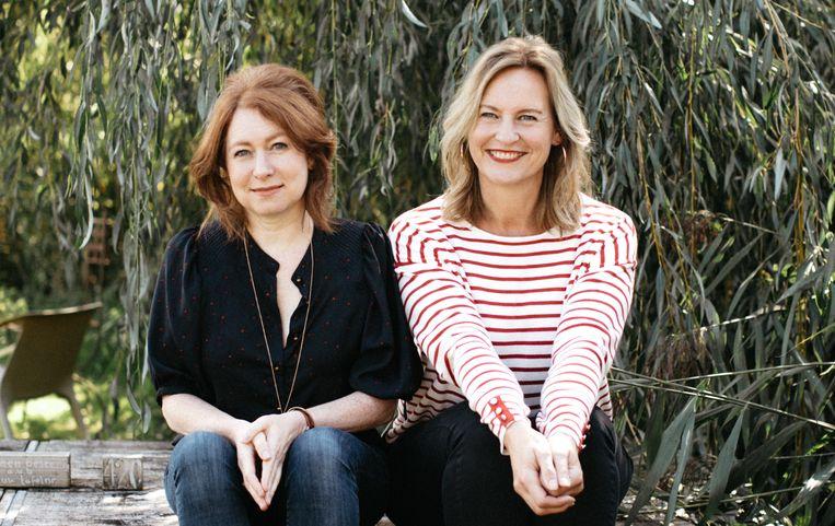 Bedenkers van de Flow Astrid van der Hulst (50) en Irene Smit (49).  Beeld