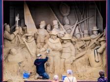 Barneveld wijkt niet: zandsculptuur 'De Nachtwacht' moet echt weg