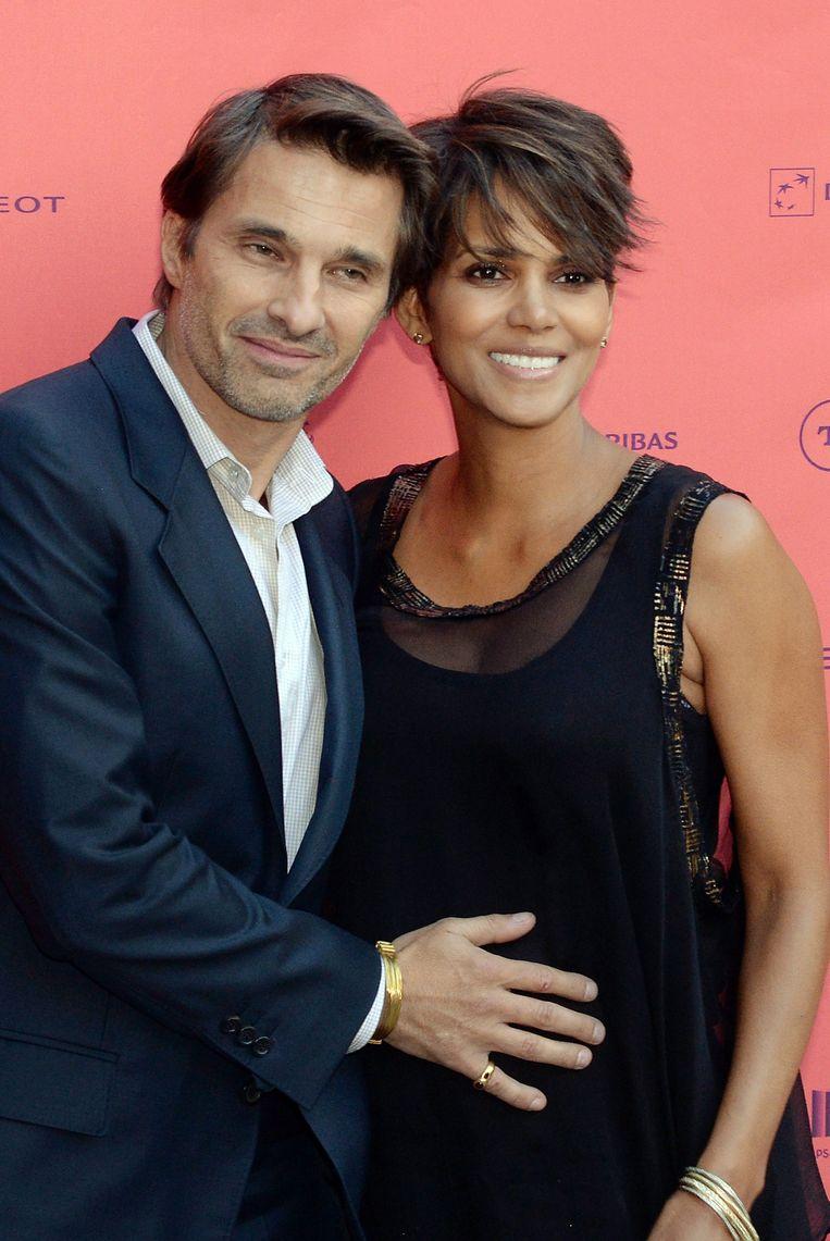 Halle Berry met haar - inmiddels - ex-man Olivier Martinez. Beeld AFP