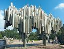 Monument ter ere van componist Sibelius.