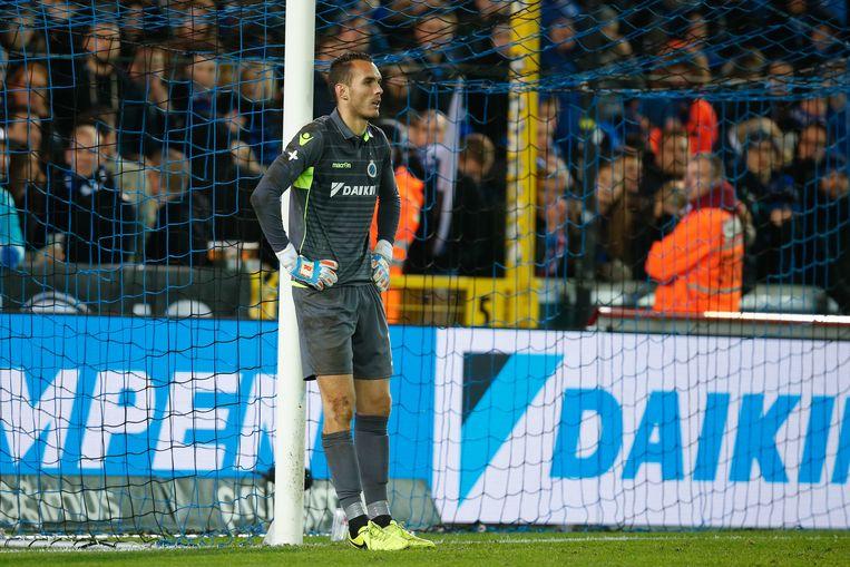 Guillaume Hubert in het shirt van Club Brugge