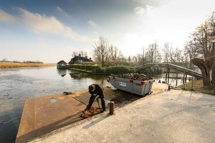 De loswal in Giethoorn. Foto: Wilbert Bijzitter