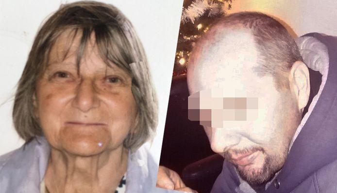 De omgekomen Solange Hennaert (82) en haar zoon Frank P. (47). De veertiger legde gisteren bekentenissen af en zal nu aanvullend vervolgd worden voor oudermoord, waardoor hij levenslang riskeert.