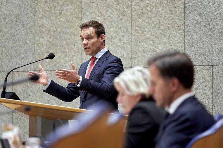 CDA'er Martijn van Helvert tijdens een debat in de Tweede Kamer. Beeld ANP
