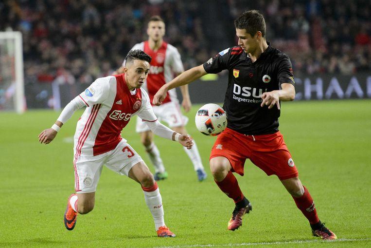Abdelhak Nouri (links), tijdens zijn debuut in de Eredivisie.