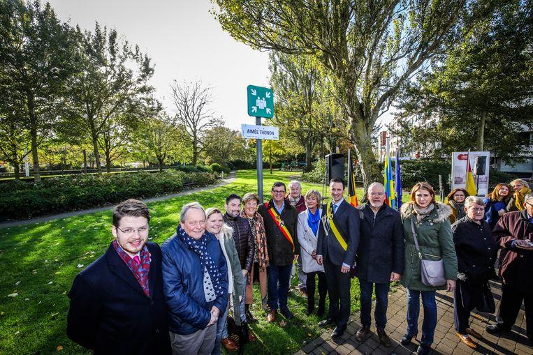 Aimée Thonon wordt voortaan herdacht met haar eigen parkje in Oostende