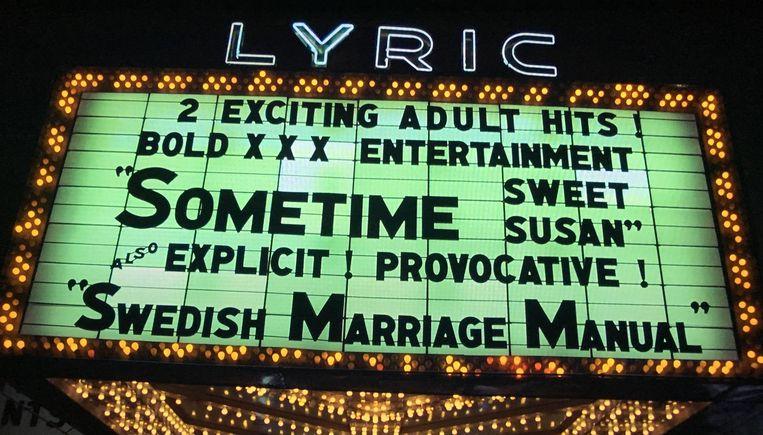 Het Lyric-theater uit Taxi Driver. Beeld null
