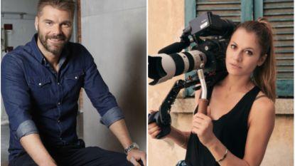 Kobe Ilsen samen met tv-producer Sara Vermassen (die deelnam aan 'Boer zkt Vrouw')