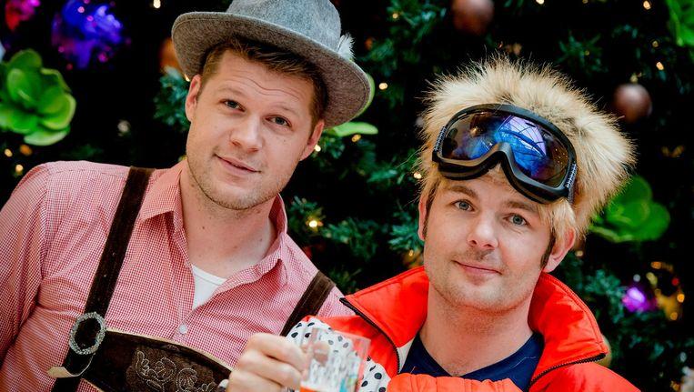 Coen en Sander tijdens hun vorige kerstweek op radio 538 Beeld ANP