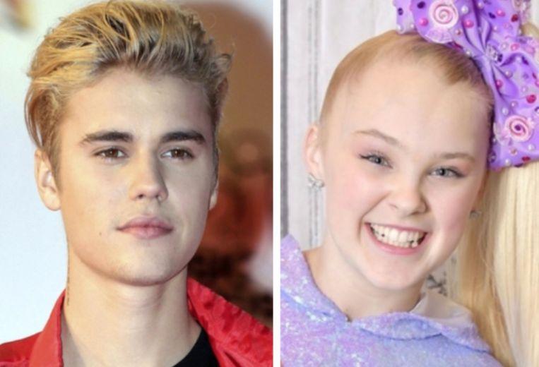 Justin Bieber en Jojo Siwa.
