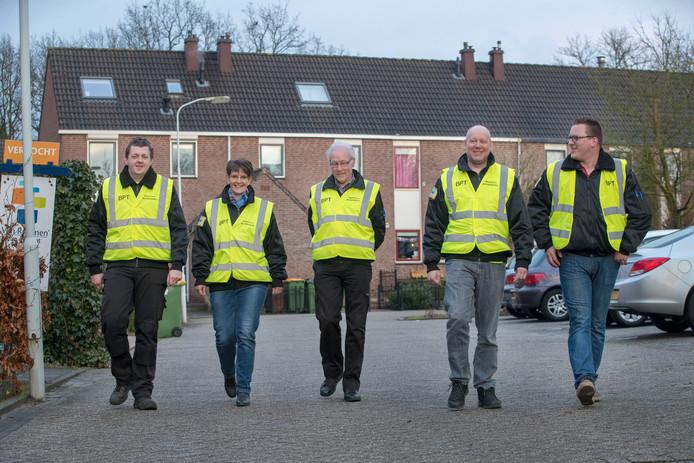 Het Buurtpreventieteam Ede uit de wijk Maandereng.