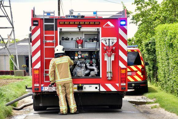 De brandweer van de post Tielt had het vuur snel onder controle.