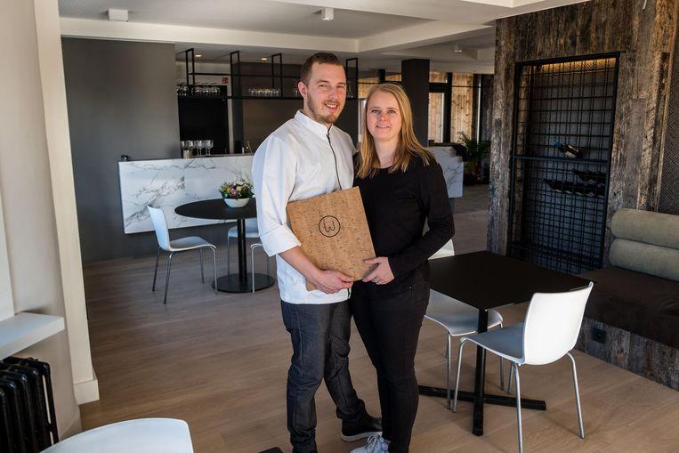 Walter Bouterse en Lisa Claes in hun huiskamerrestaurant Wald.
