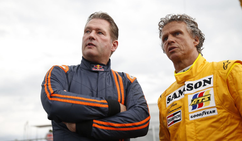 Jan Lammers (r) met Jos Verstappen