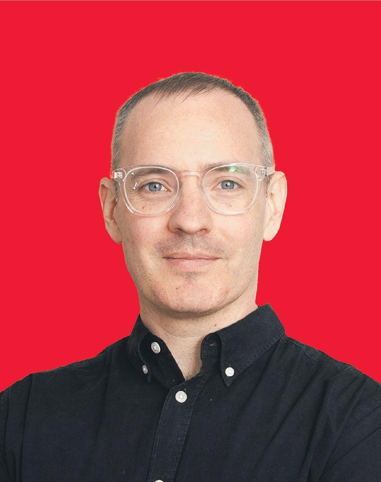 Craig Silverman. De Canadese journalist is in Amsterdam om te praten over nepnieuws. Beeld