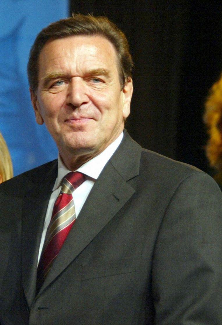 Schröder Beeld AFP