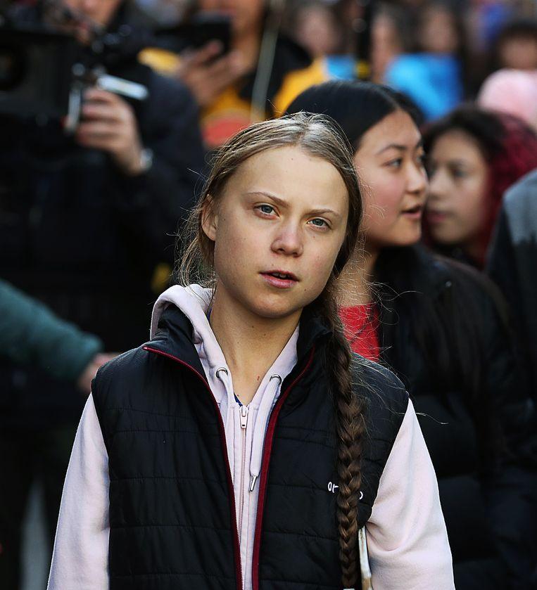 Greta Thunberg in Canada eerder deze week.