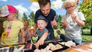 25 papa's kamperen met kleuters in tuin