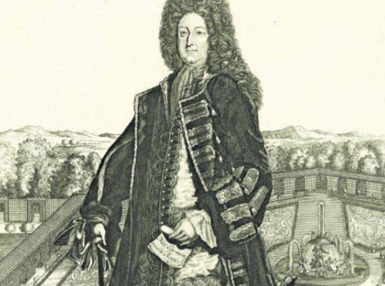 John Law spottend afgebeeld als Zonnekoning. Beeld Archief Rijksmuseum
