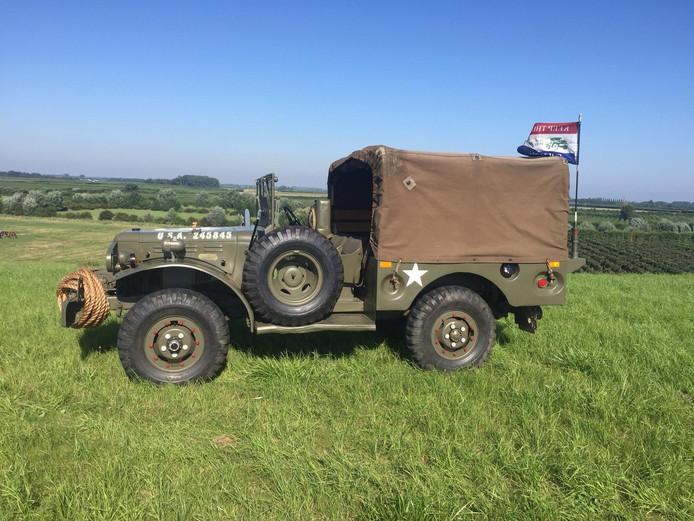 Een Dodge-legervoertuig uit 1944.