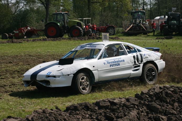 Dinand van Veenhuizen was onverslaanbaar op de autocross in Putten
