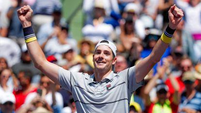 Opslagkanon Isner is verrassend de eerste finalist in Miami - Geen dubbelfinale voor Mertens