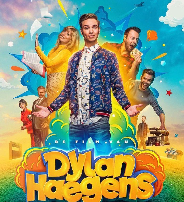 Nederlandse YouTube-ster Dylan Haegens op de poster van zijn eigen film.