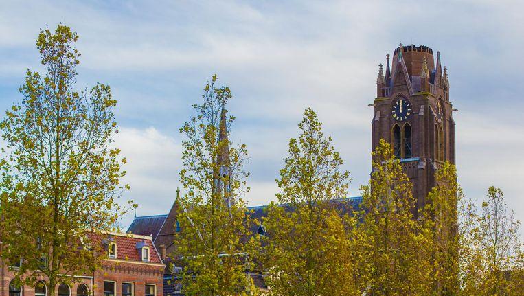 De door brand gekortwiekte kerktoren van Weesp Beeld Maarten Brante