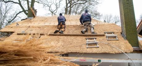 Nieuw rieten dak voor Limiethuisje Boslaan